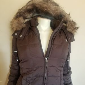 New Abercrombie & Fitch Women Faux Fur Hooded Puff